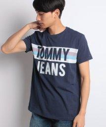 TOMMY JEANS/コットンジャージロゴTシャツ/500975814