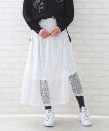 ANDJ/花柄レースロングスカート/500986769