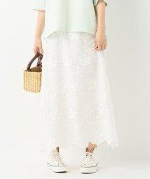 SLOBE IENA/フラワーモチーフ刺繍スカート◆/500988798