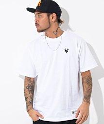 majestic/Majestic【マジェスティック】New York Yankees ワンポイントロゴ刺繍クルーネック半袖Tシャツ/500989877