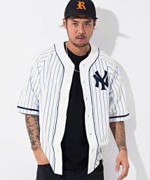 majestic/Majestic【マジェスティック】NY ピンストライプベースボール半袖シャツ/500989880