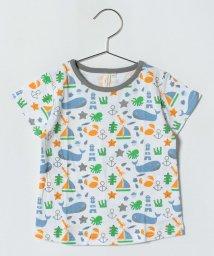 LAGOM/マリン総柄Tシャツ/500974889