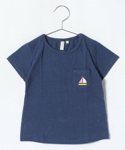LAGOM(ラーゴム)/マリンプリントポケットTシャツ/1206388221411