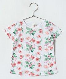 LAGOM/フラワープリントTシャツ/500974892