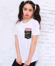 ANAP GiRL/迷彩ポケ付後ろロゴTシャツ/500982535