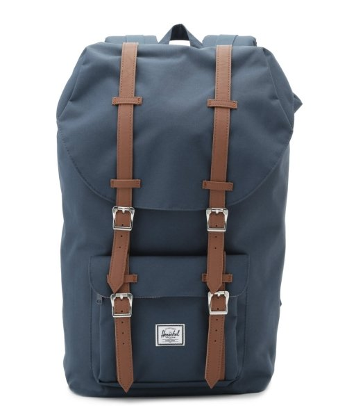 OTHER(OTHER)/【Herschel Supply】HS LITTLE AME NAVY/TAN PU/1001400007-OS