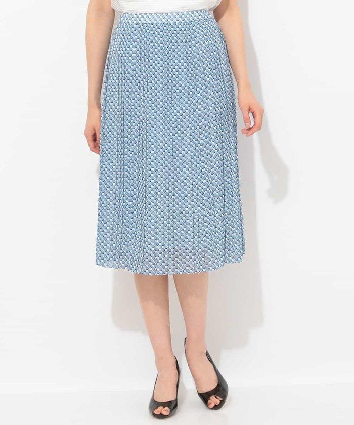 【セットアップ対応】【洗える】ポルカドットプリーツスカート