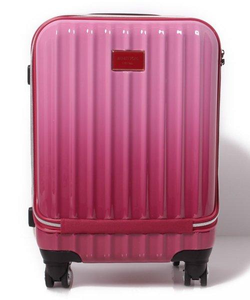 BENETTON (women)(ベネトン(レディース))/ベネトンフロントオープングラデーションキャリーケース・スーツケース機内持込可容量約33LTSAロック/CCCJL7SD8811