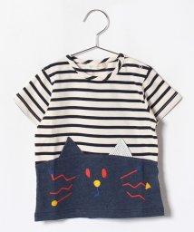 babycheer/切り替えねこボーダーTシャツ/500979263