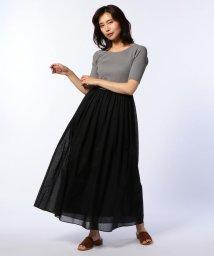 NOLLEY'S/コンビ配色ロングワンピース/500983953