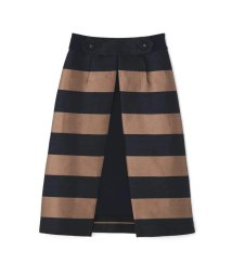 ADORE/シャンタンボーダーアンダースカート付きスカート/500990531