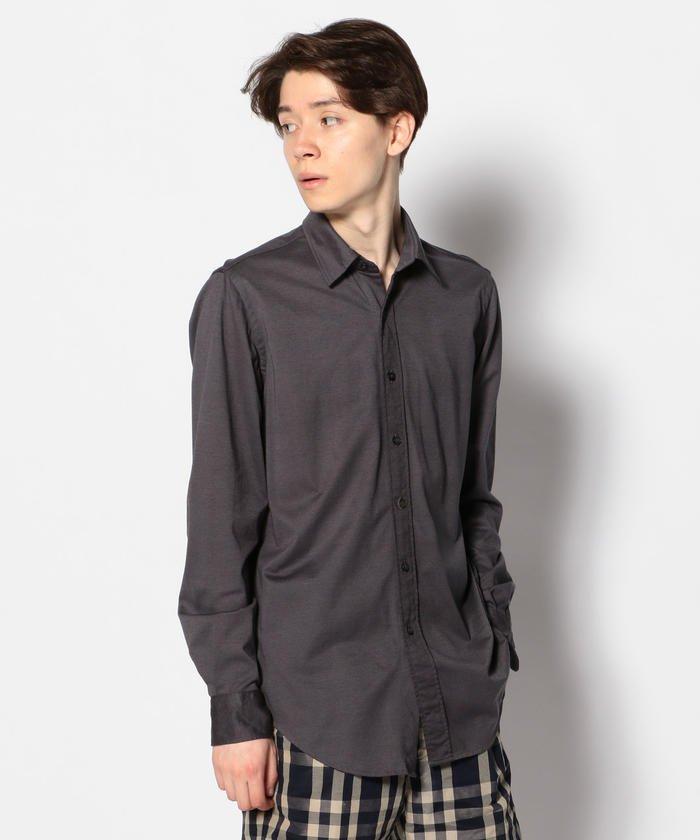 デラヴェコットン ワイドカラーシャツ