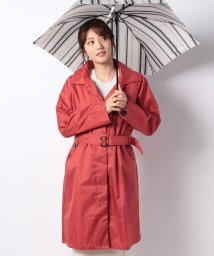 CARA O CRUZ/【レイン】ポーチ付きコートと折りたたみ傘(配色ストライプ)/500923941