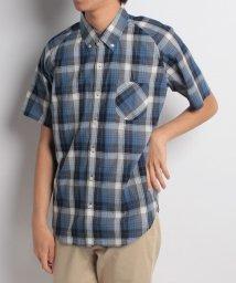 URBAN RESEARCH/【WAREHOUSE】インディゴチェック半袖BDシャツ/500977344