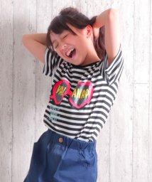 ANAP KIDS/ハートサングラスプリントTシャツ/500985059