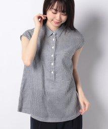 OLD ENGLAND/WEB限定【OEPP】ギンガムチェックスリーブシャツ/500825655