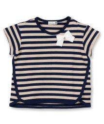 branshes/リボン付きボーダー柄半袖Tシャツ/500986221