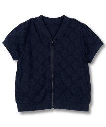 branshes/花柄ジャガード半袖ジャケット/500986222