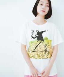 haco!/PBPコットン畑のストリートアートTシャツ/500988976