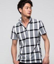 CavariA/CavariA【キャバリア】ワイヤー入りマドラスチェック柄半袖ポロシャツ/500994859