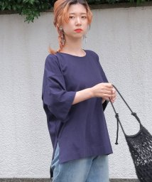 ANDJ/オーバーサイズヘムラインスリット半袖Tシャツ/500987066