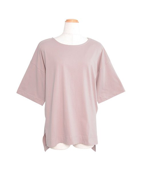 ANDJ(ANDJ(アンドジェイ))/オーバーサイズヘムラインスリット半袖Tシャツ/ts74c03863