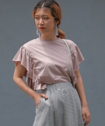 ANDJ/袖フリルポケット付き半袖Tシャツ/500987067