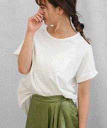ANDJ/ポケット付きラウンドカット半袖Tシャツ/500987068