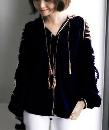 ANDJ/タッセル付きボリューム袖刺繍ブラウスコットンチュニック/500987107