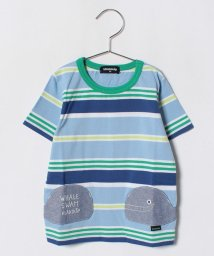 kladskap/クジラポケットつき多色ボーダーTシャツ/500988400