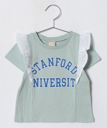petit main/カレッジロゴ入りフリルつきTシャツ/500988429
