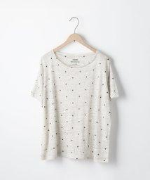 coen/フレンチリネンドットプリントTシャツ/500996503