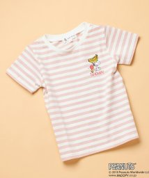 ROPE' PICNIC KIDS/【ROPE' PICNIC KIDS×PEANUTS(SNOOPY)】ボーダーTシャツ/500984207