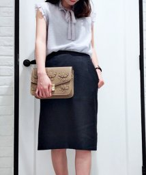 Noela/ペプラムベルトタイトスカート/500993532