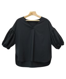 and Me.../【E-4】Vネック ブラウス ボリューム袖 7分袖 シャツ トップス/500999950