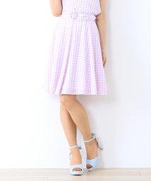 MISCH MASCH/【美人百花6月号掲載】ギンガムチェックフレアースカート/500934563