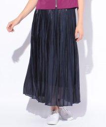 CARA O CRUZ/アンダースカート付きプリーツスカート/500985696