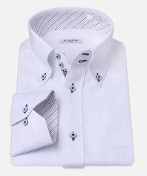 ATELIER365/白ドビー柄 デザインワイシャツ【シンプルストライプ】/501004391
