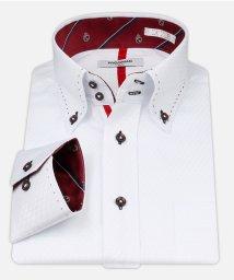 ATELIER365/白ドビー柄 デザインワイシャツ【クレストレッド】/501004393