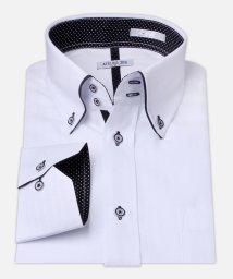 ATELIER365/白ドビー柄 デザインワイシャツ【ピンドット】/501004395