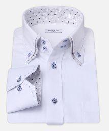 ATELIER365/白ドビー柄 デザインワイシャツ【ポルカドット】/501004397