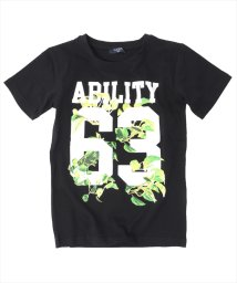 GLAZOS/ボタニカルナンバー半袖Tシャツ/501005011