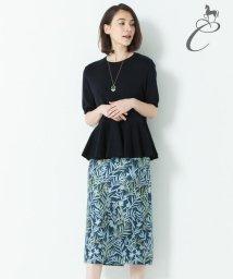 JIYU-KU /【Class Lounge】FLOWER JAQUARD ペンシルスカート/501005504