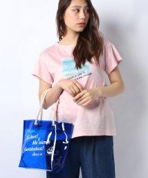 CARA O CRUZ/スパンコールプリントTシャツ+クリアバッグSET/500893081