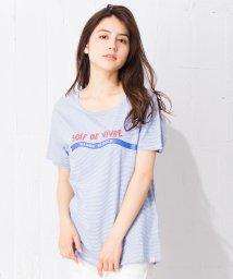 en recre/【SCOTCH & SODA】ボーダーロゴプリントTシャツ/500991371