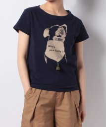 en recre/【Brahmin】ドッグプリントTシャツ/500991428