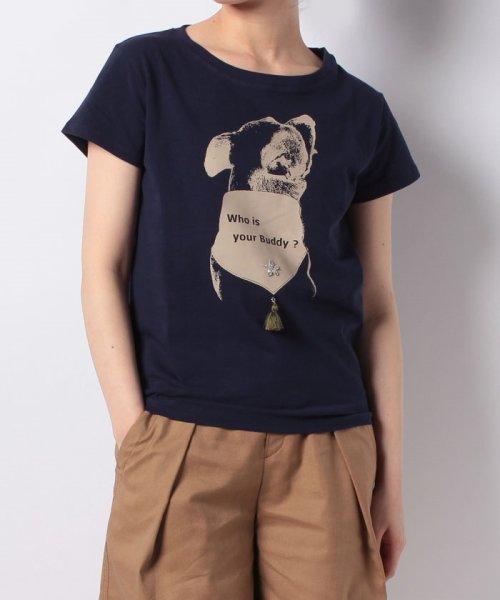 en recre(アン レクレ)/【Brahmin】ドッグプリントTシャツ/6801598
