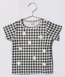 petit main/お花モチーフつきTシャツ/500996423
