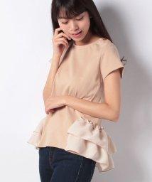 petit main LIEN/【LIEN】裾フリルつきフレンチスリーブTシャツ/500996476