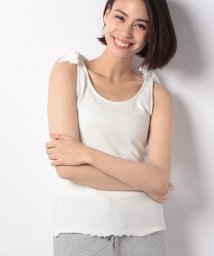 NICE CLAUP OUTLET/【natural couture】肩リボン2WAYタンク/500996618